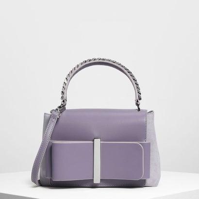 ボウディテール ハンドバッグ / Bow Detail Handbag (Lilac Grey)