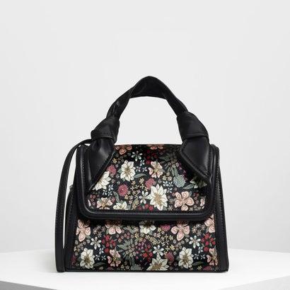ベルベット フロントフラップ ハンドバッグ / Velvet Front Flap Handbag (Multi)