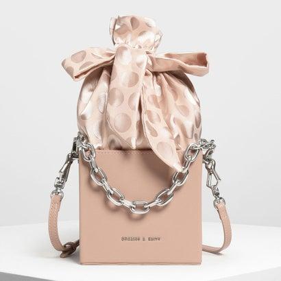 ノットボウ ボクシー バケツバッグ / Knotted Bow Boxy Bucket Bag (Pink)