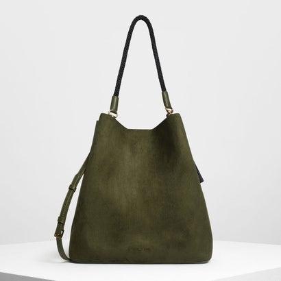 タッセルディテール オーバーサイズ バケツバッグ / Tassel Detail Oversized Bucket Bag (Olive)