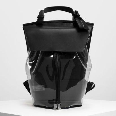 ビニールディテールバックパック / Vinyl Detail Backpack (Black)