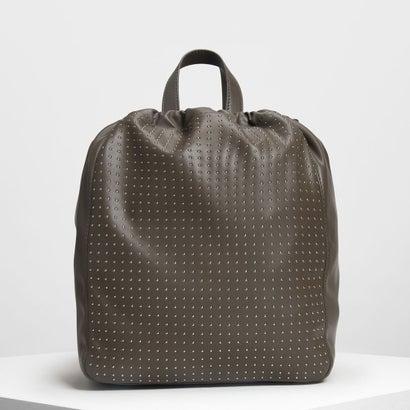 マイクロスタッズドローストリングバックパック / Micro Stud Drawstring Backpack (Olive)