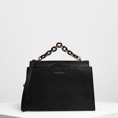 チェーンハンドル ハンドバッグ / Chain Handle Handbag (Black)