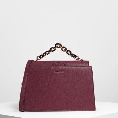 チェーンハンドル ハンドバッグ / Chain Handle Handbag (Prune)