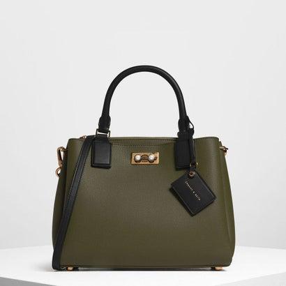 トップハンドルストラクチャーバッグ / Top Handle Structured Bag (Olive)