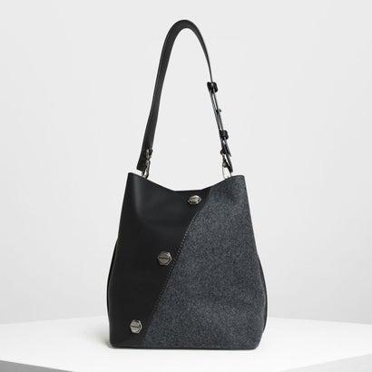 スタッズディテールホーボーバッグ / Stud Detail Hobo Bag (Black)