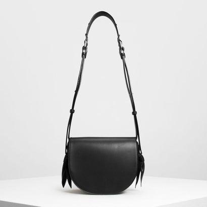 ノットディテールサドルバッグ / Knot Details Saddle Bag (Black)