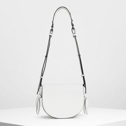 ノットディテールサドルバッグ / Knot Details Saddle Bag (White)