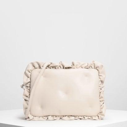 ラッフルディテールラップトップバッグ / Ruffle Detail Laptop Bag (White)