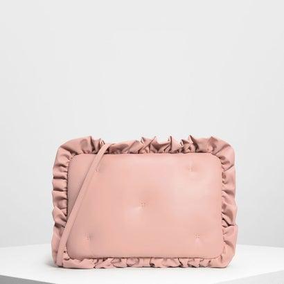 ラッフルディテールラップトップバッグ / Ruffle Detail Laptop Bag (Pink)