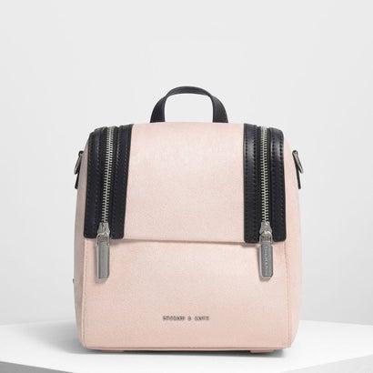 ジッパーディテールバックパック / Zipper Detail Backpack (Pink)