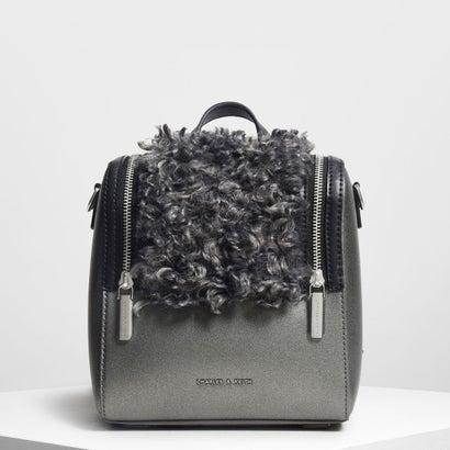 ジッパーディテールバックパック / Zipper Detail Backpack (Pewter)