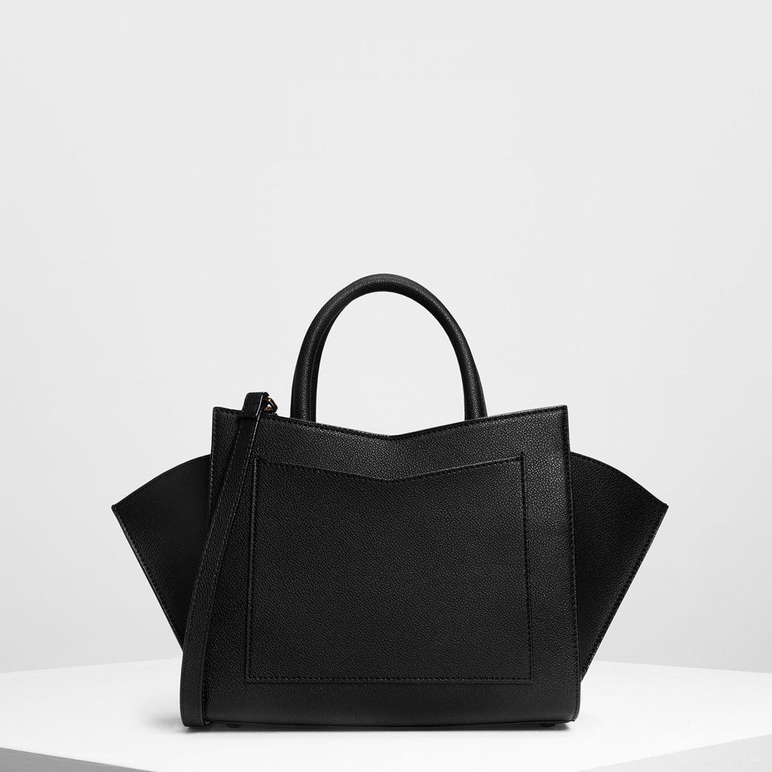 8cceca2dbf52 CHARLES & KEITH ジオメトリック ストラクチャーシティバッグ / Geometric Structured City Bag  (Black)-CHARLES & KEITH公式オンラインストア