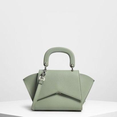 ジオメトリック ストラクチャーシティバッグ / Geometric Structured City Bag (Sage Green)