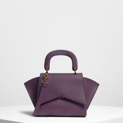 ジオメトリック ストラクチャーシティバッグ / Geometric Structured City Bag (Purple)