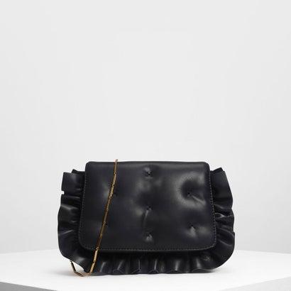 ラッフルディテール クラッチ / Ruffle Detail Clutch (Black)