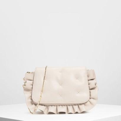 ラッフルディテール クラッチ / Ruffle Detail Clutch (White)