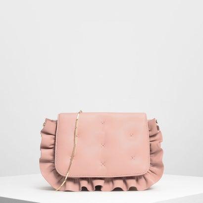 ラッフルディテール クラッチ / Ruffle Detail Clutch (Pink)