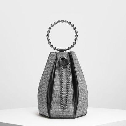 サーキュラーハンドル バケツバッグ / Circular Handle Bucket Bag (Silver)