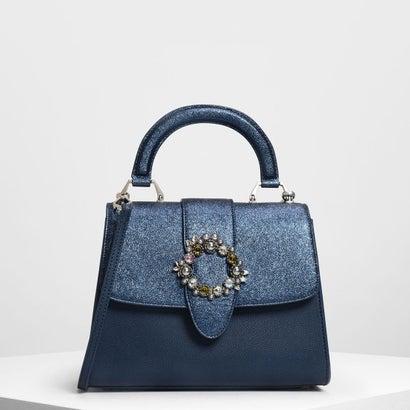 エンベリッシュ バックルディテールバッグ / Embellished Buckle Detail Bag (Blue)