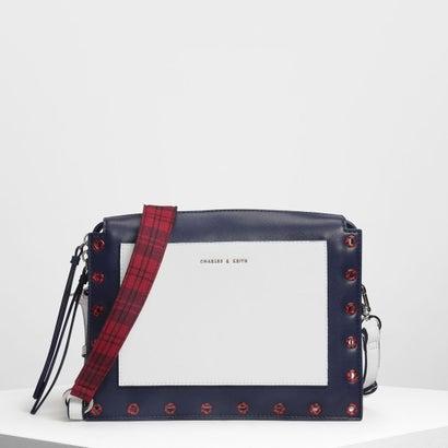エンベリッシュ クロスボディバッグ / Embellished Crossbody Bag (White)