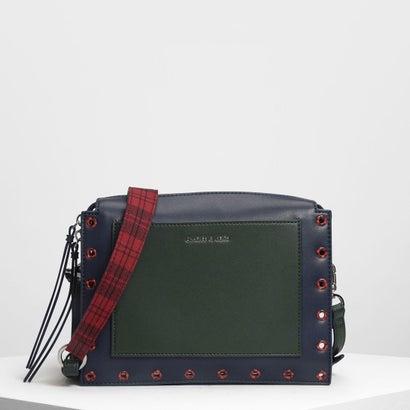 エンベリッシュ クロスボディバッグ / Embellished Crossbody Bag (Dark Green)