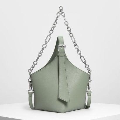 イロンゲイトストラップ バケツバッグ / Elongated Strap Bucket Bag (Sage Green)