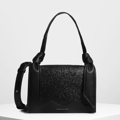 ノットディテール ハンドルバッグ / Knot Detail Handle Bag (Black)