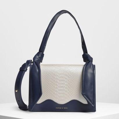 ノットディテール ハンドルバッグ / Knot Detail Handle Bag (Dark Blue)