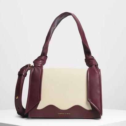 ノットディテール ハンドルバッグ / Knot Detail Handle Bag (Prune)