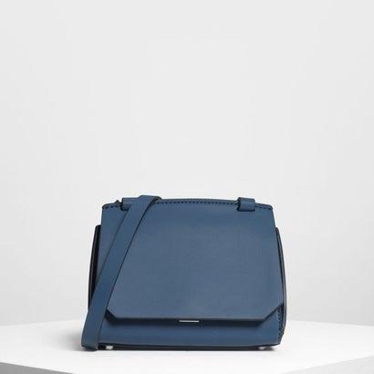 フロントフラップ クロスボディバッグ / Front Flap Crossbody Bag (Blue)