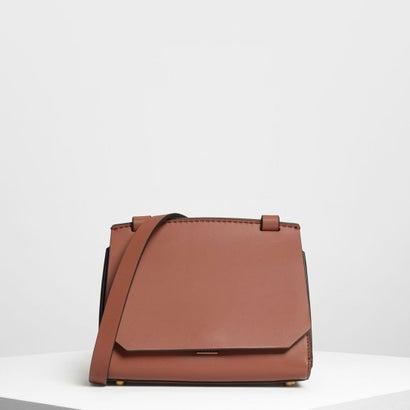 フロントフラップ クロスボディバッグ / Front Flap Crossbody Bag (Cognac)
