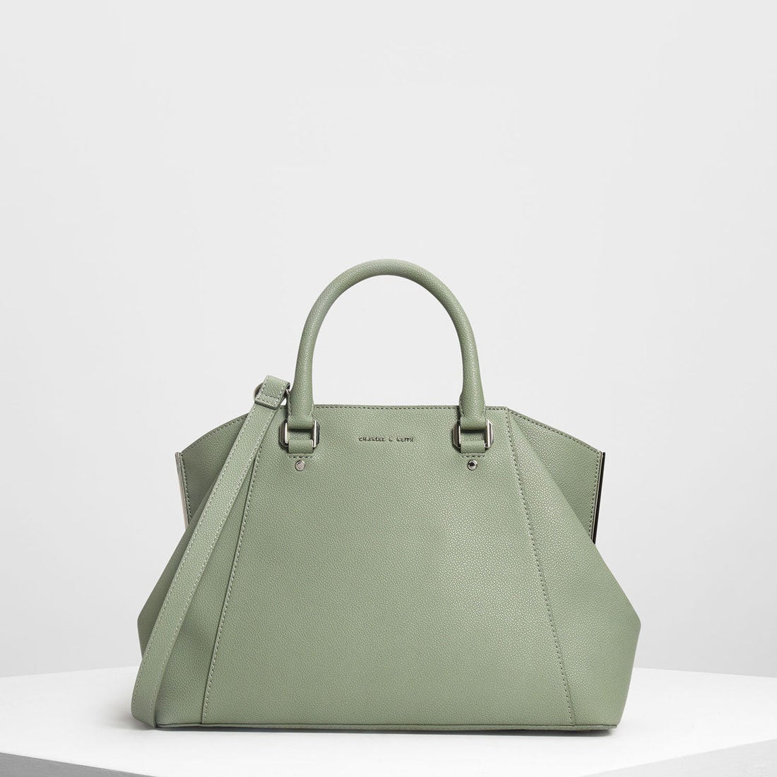 charles keith ストラクチャー シティバッグ structured city bag