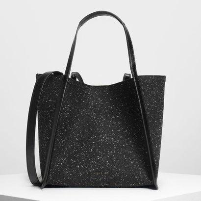 テーラード オーバーサイズトートバッグ / Tailored Oversized Tote Bag (Black)