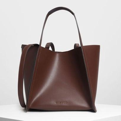テーラード オーバーサイズトートバッグ / Tailored Oversized Tote Bag (Brown)