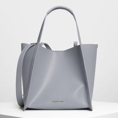 テーラード オーバーサイズトートバッグ / Tailored Oversized Tote Bag (Grey)