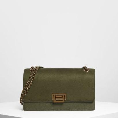 フロントフラップ プッシュロックバッグ / Front Flap Push Lock Bag (Olive)