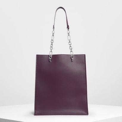 チェーンストラップ ハンドルトートバッグ / Chain Strap Handle Tote Bag (Purple)