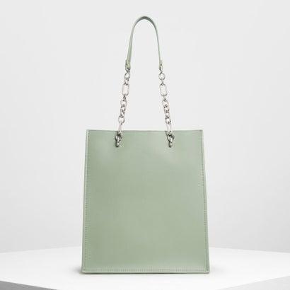 チェーンストラップ ハンドルトートバッグ / Chain Strap Handle Tote Bag (Sage Green)