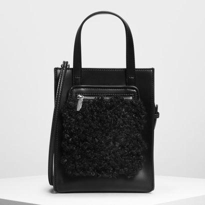 ジップコンバートメント トートバッグ / Zipper Compartment Tote Bag (Black)