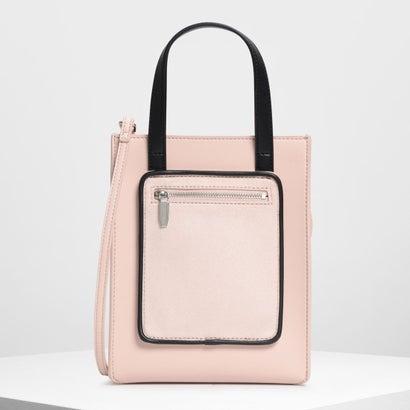 ジップコンバートメント トートバッグ / Zipper Compartment Tote Bag (Pink)