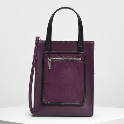 ジップコンバートメント トートバッグ / Zipper Compartment Tote Bag (Purple)