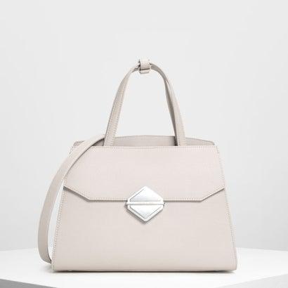 メタリックアクセント ハンドバッグ / Metallic Accent Handbag (Pearl)