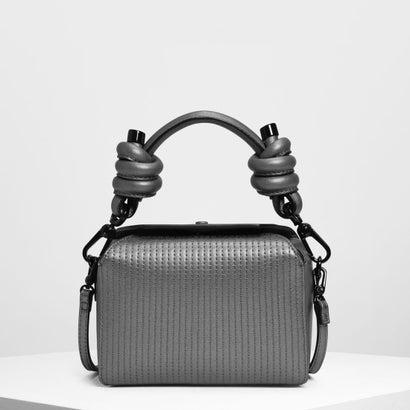 ノットディテール ハンドルバッグ / Knot Detail Handle Bag (Pewter)