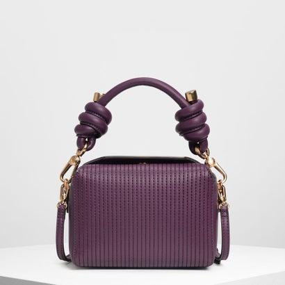 ノットディテール ハンドルバッグ / Knot Detail Handle Bag (Purple)