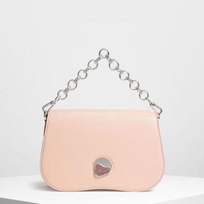 カーブドエッジ クロスボディバッグ / Curved Edge Crossbody Bag (Pink)