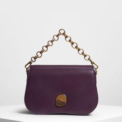 カーブドエッジ クロスボディバッグ / Curved Edge Crossbody Bag (Purple)