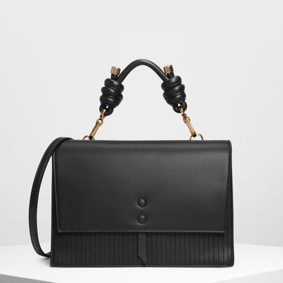 ノッテドディテール ハンドルバッグ / Knotted Detail Handle Bag (Black)