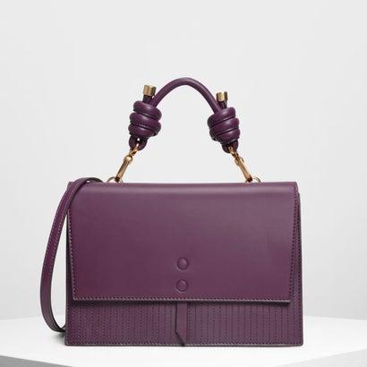 ノッテドディテール ハンドルバッグ / Knotted Detail Handle Bag (Purple)