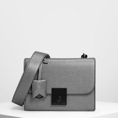 ストラクチャード クロスボディバッグ / Structured Crossbody Bag (Pewter)